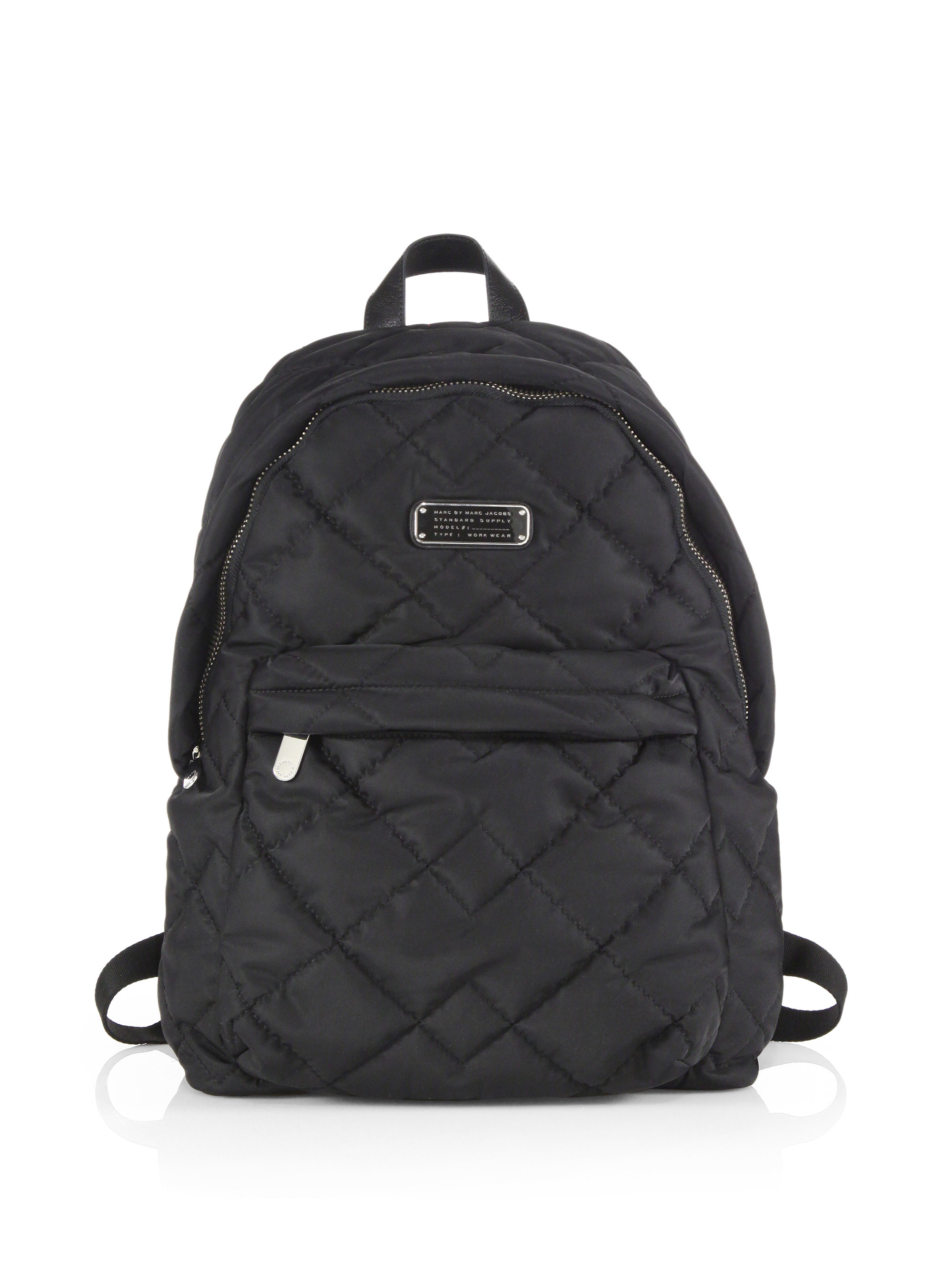 marc by marc jacobs crosby quilted nylon backpack in black lyst. Black Bedroom Furniture Sets. Home Design Ideas
