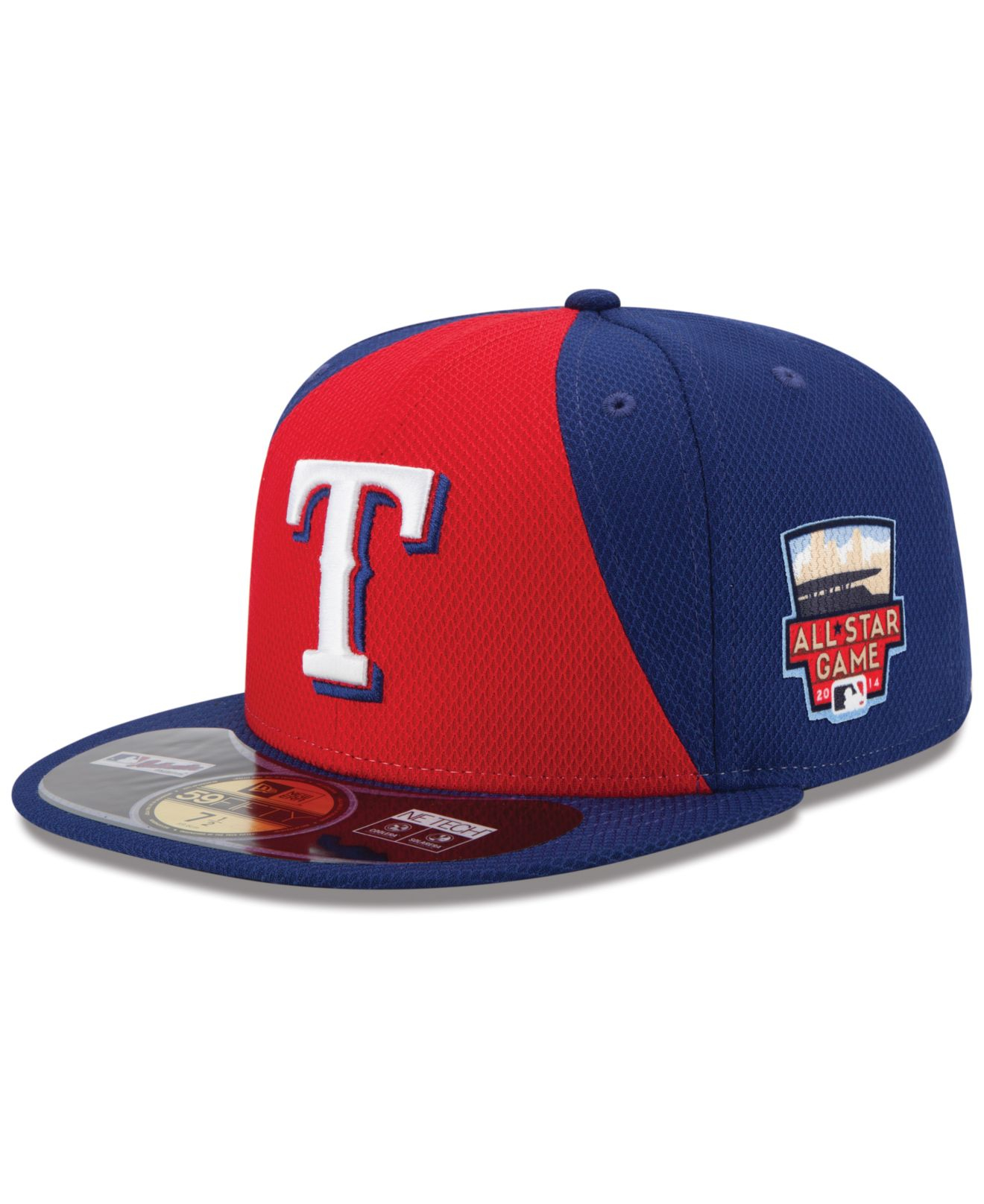 new concept 5f24f 378d6 ... reduced lyst ktz texas rangers 2014 all star game patch 59fifty cap in  red for men