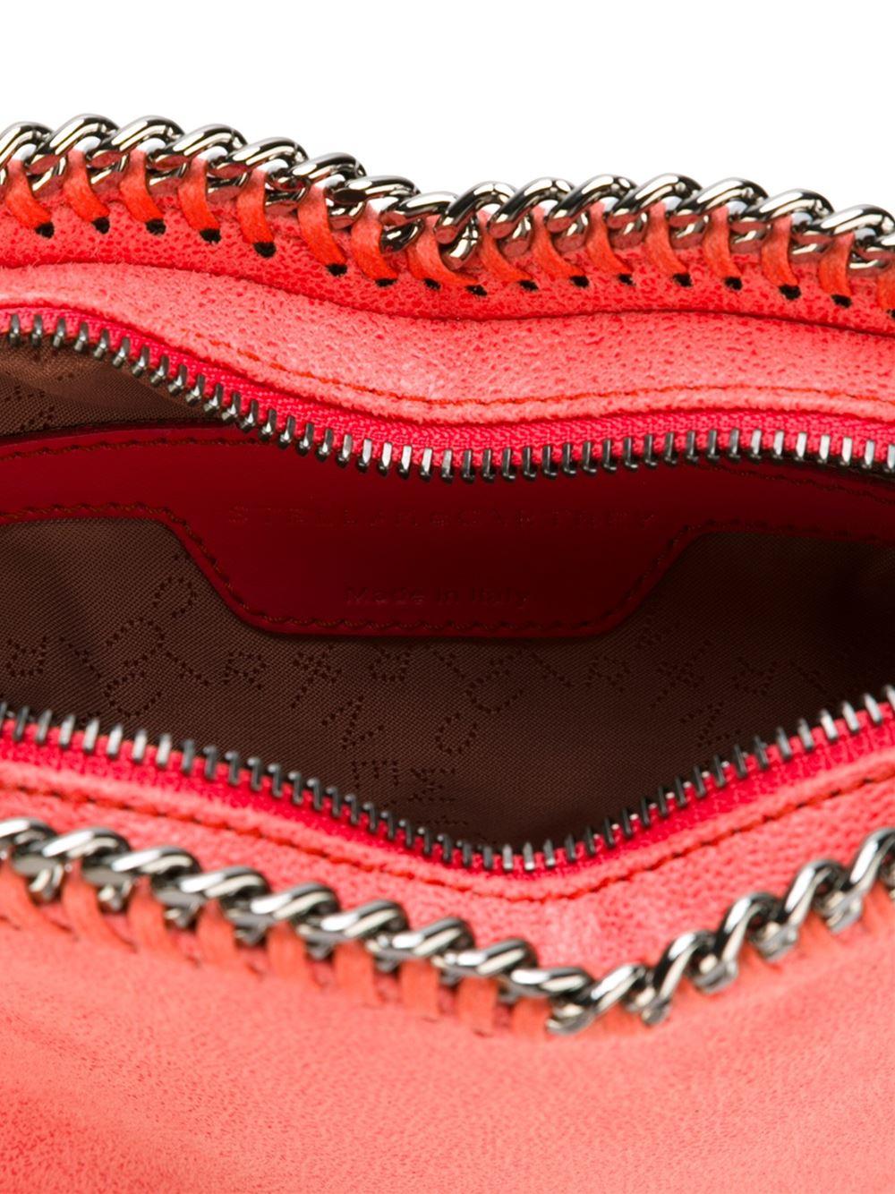 Stella McCartney Leather Falabella Heart Cross-body Bag in Pink