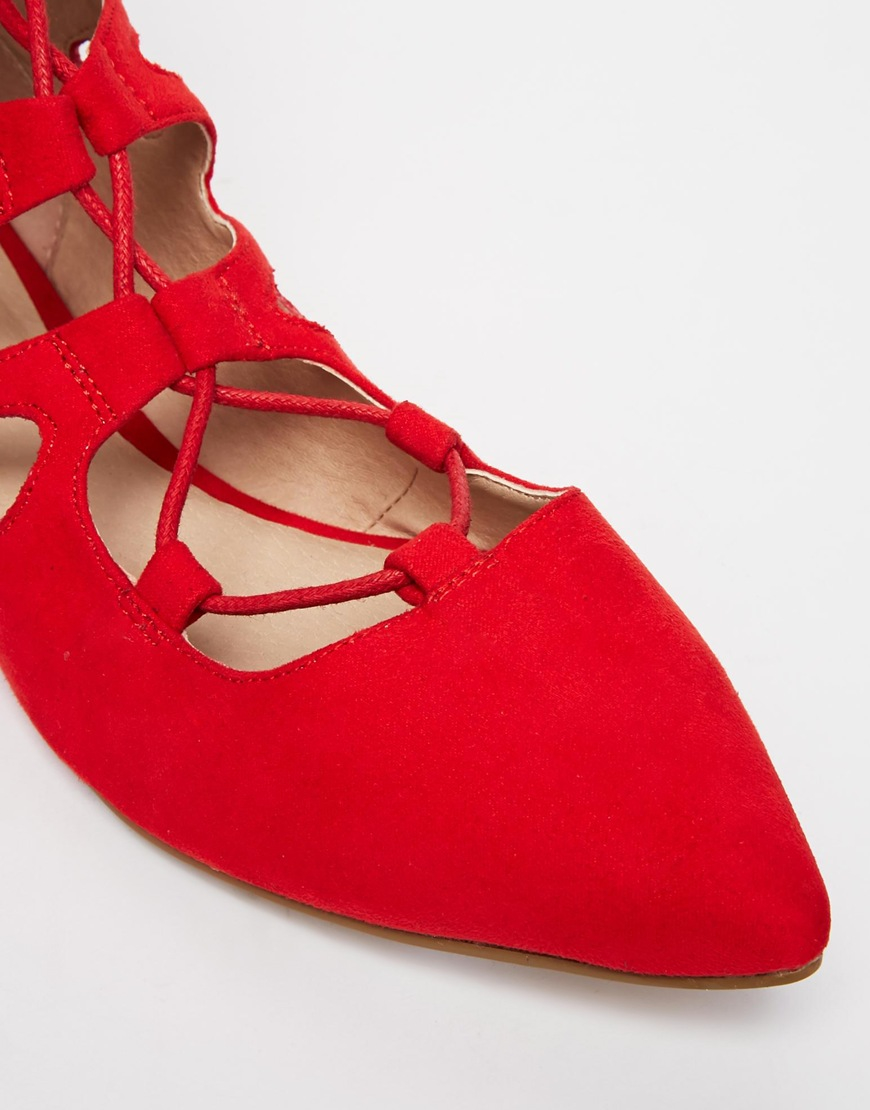 ASOS Lana Pointed Lace Up Ballet Flats