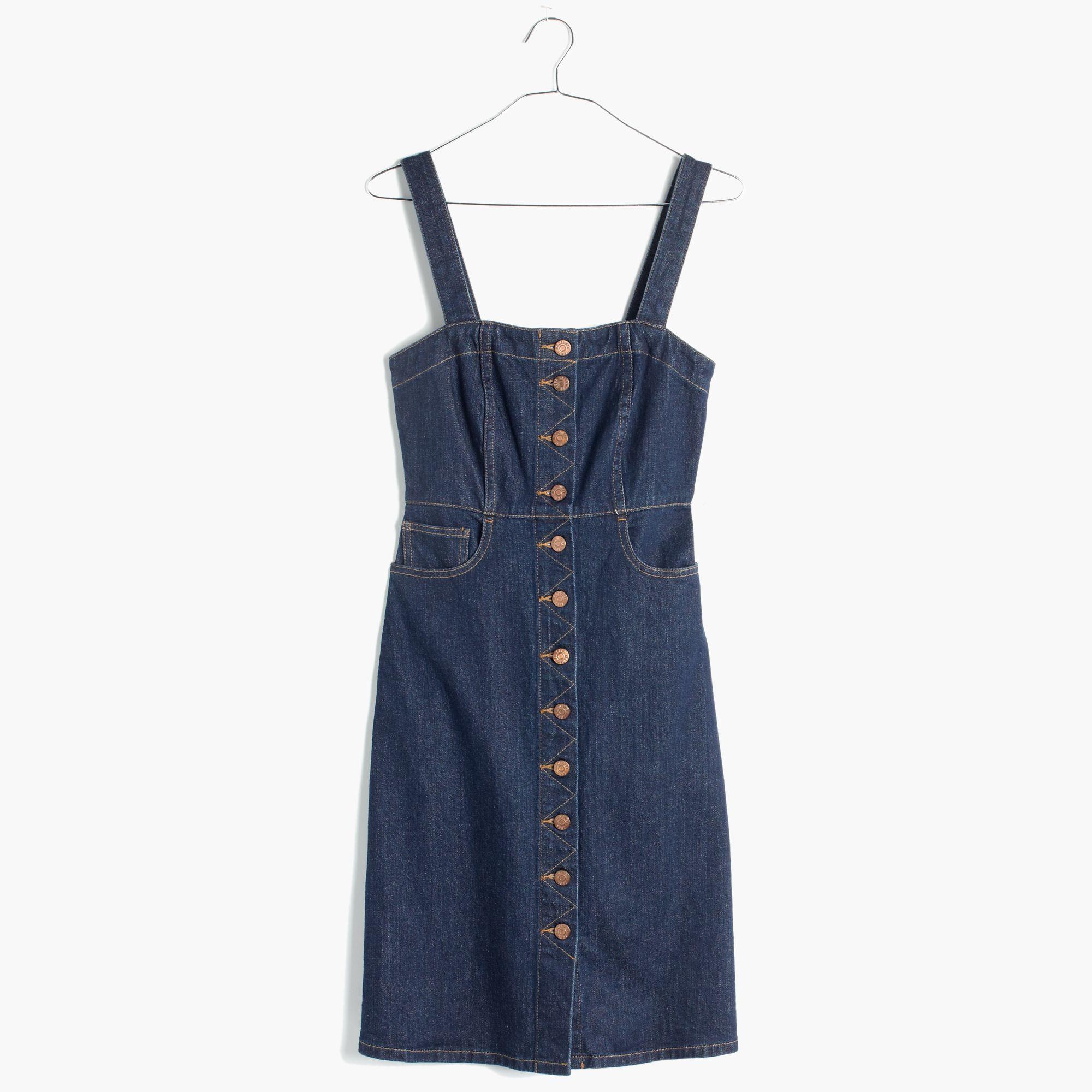 Madewell Denim Overall Dress In Matilda Wash In Blue Lyst