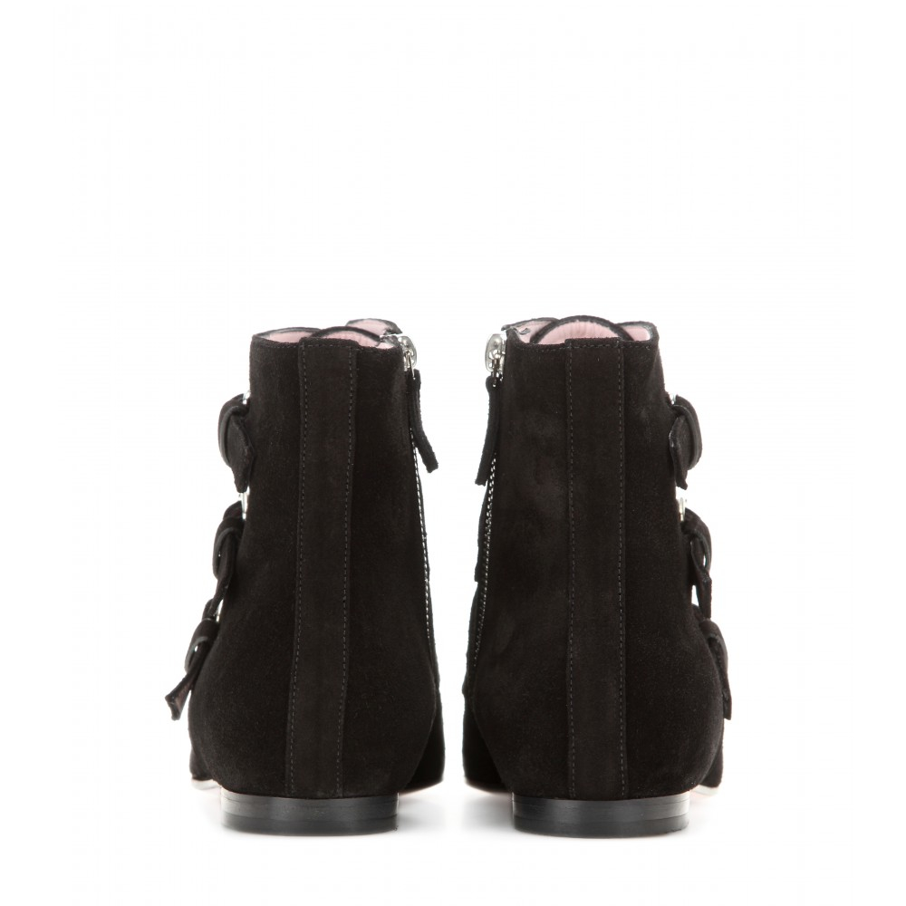 Giamba Croner Suede Ankle Boots in Nero (Black)