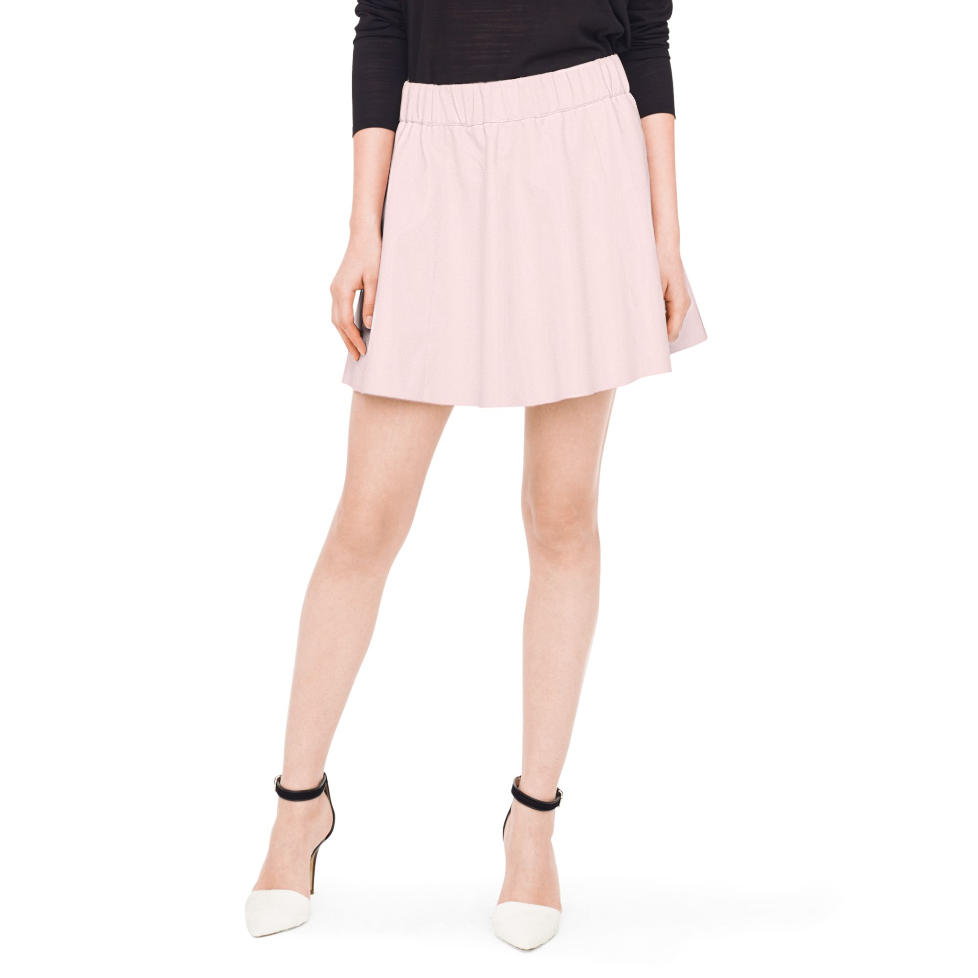 68ce52f893 Lyst - Club Monaco Lyn Faux-leather Skirt in Black