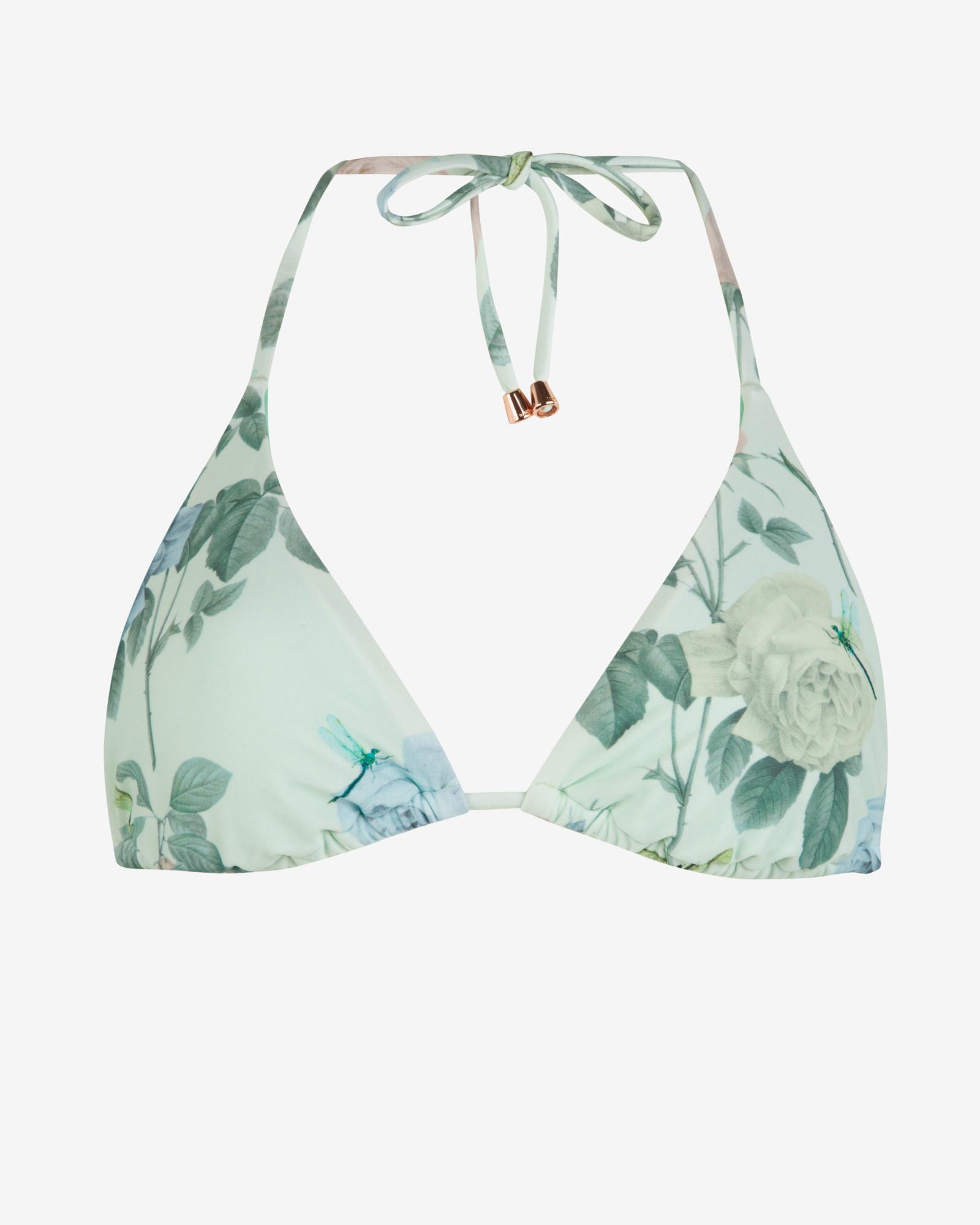 be334fd361 Lyst - Ted Baker Distinguishing Rose Triangle Bikini Top in Green