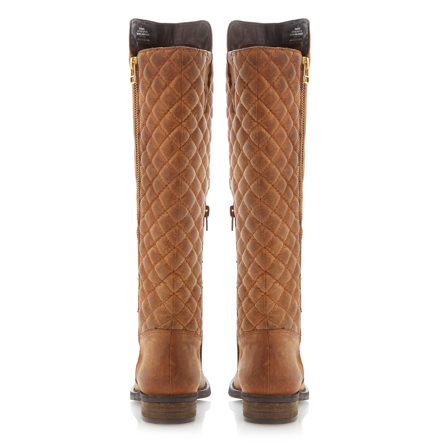 Steve Madden Northside Leather Knee High Boots in Tan (Brown)