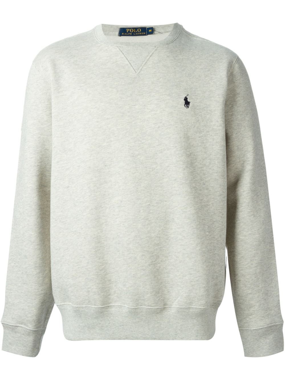 polo ralph lauren chest logo sweatshirt in beige for men. Black Bedroom Furniture Sets. Home Design Ideas