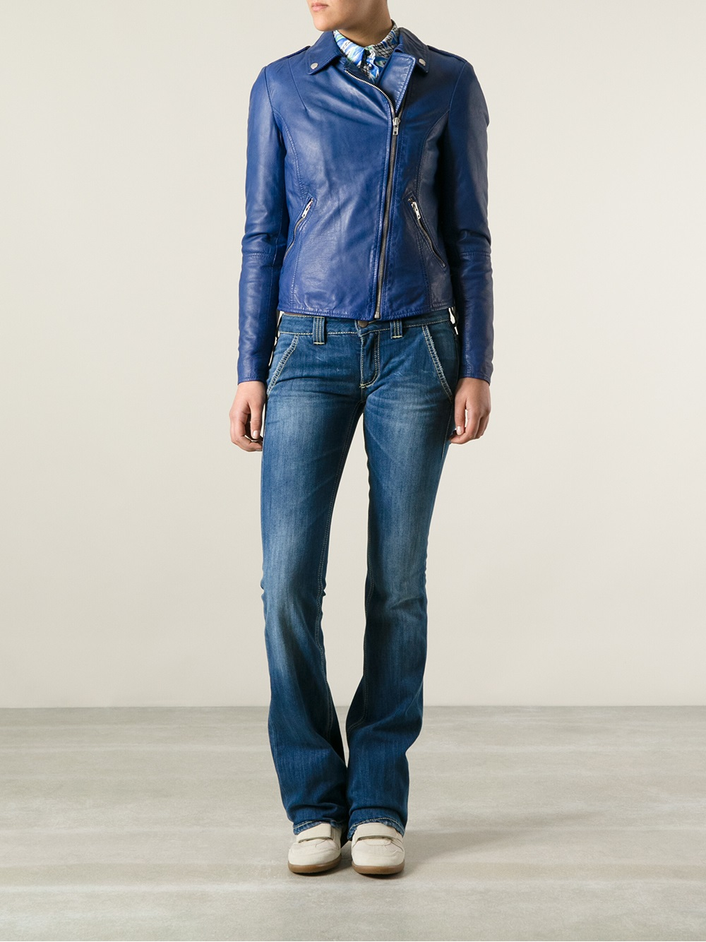 Dondup Skinny Bootcut Jeans in Blue