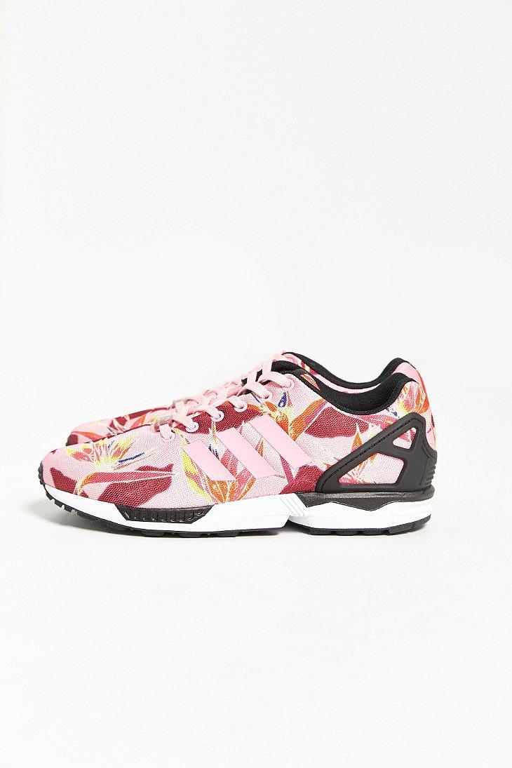 adidas originals zx flux floral print sneaker in pink for. Black Bedroom Furniture Sets. Home Design Ideas