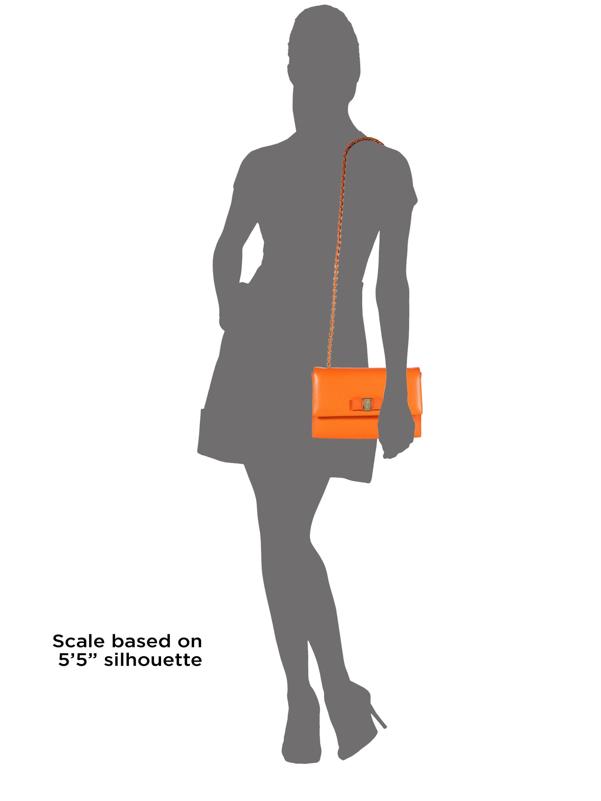 82a2ffb2c7c9 Lyst - Ferragamo Ginny Medium Saffiano Leather Crossbody Bag in Orange