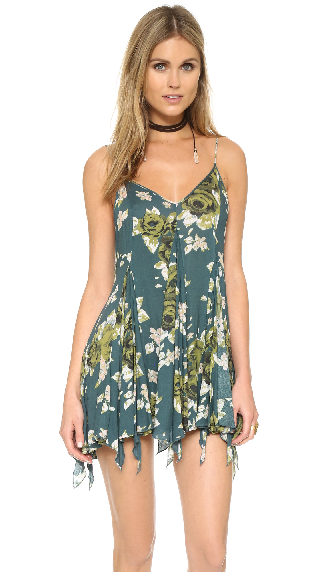6d4ec34166f2d Free People Alyson Slip in Green - Lyst