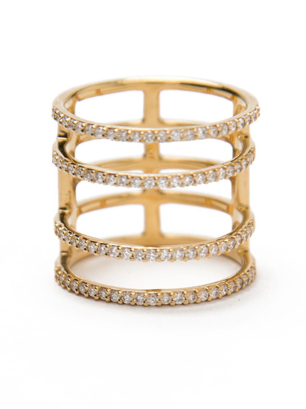 Khai Khai Woman 18-karat Gold Diamond And Crystal Ring Gold Size 7 Khai Khai eo7ljwni