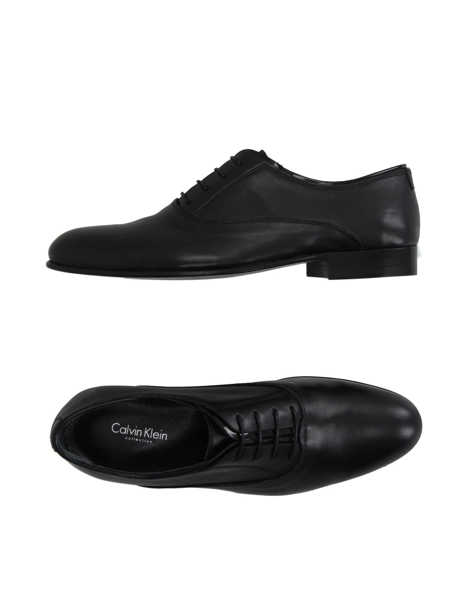 calvin klein lace up shoes in black for lyst