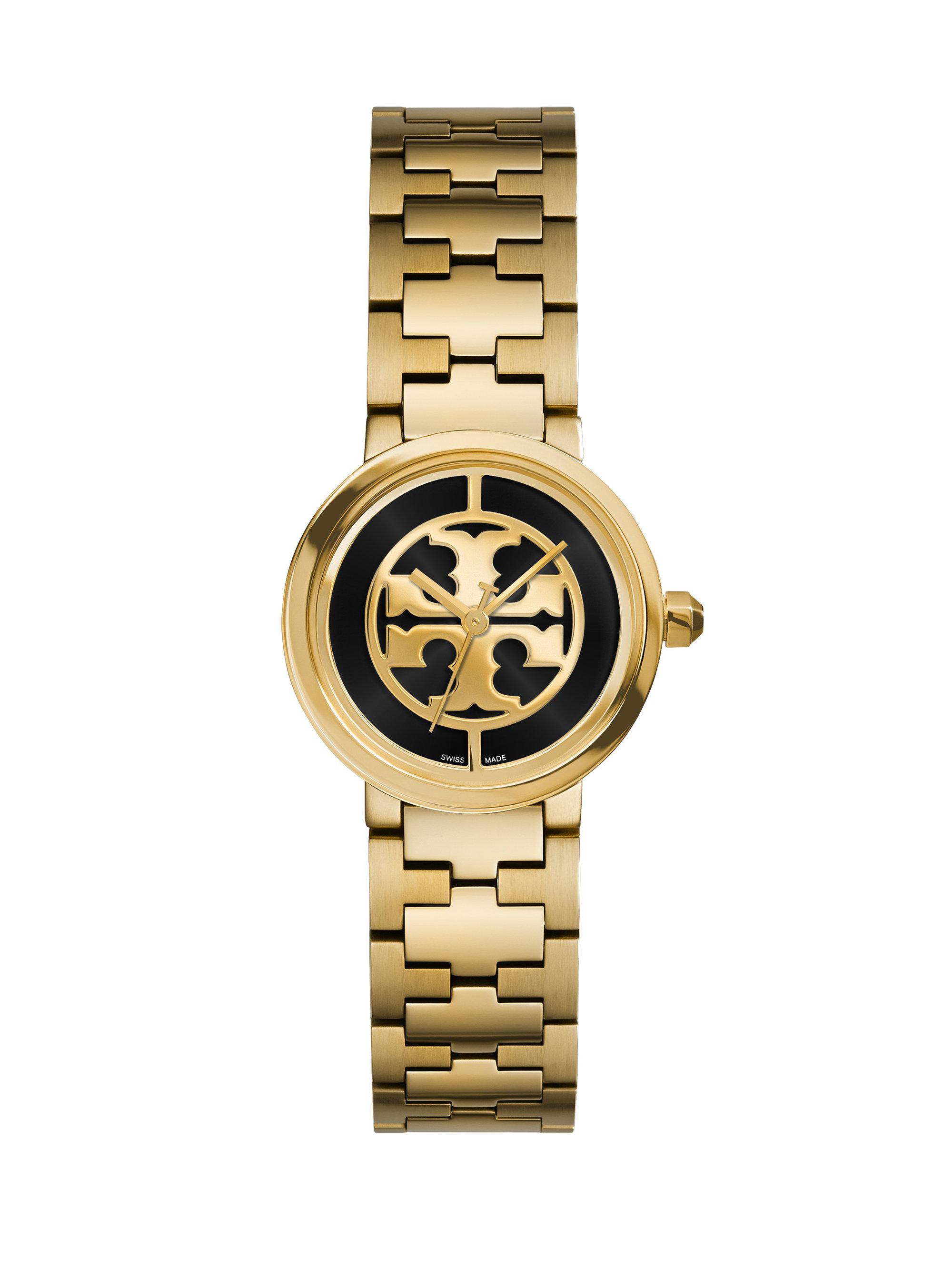 Tory Burch Reva Goldtone Stainless Steel Bracelet Watch