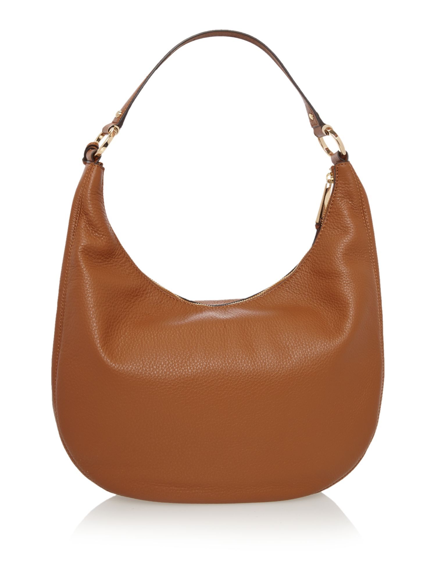 michael kors rhea zip tan shoulder hobo bag in brown tan lyst. Black Bedroom Furniture Sets. Home Design Ideas