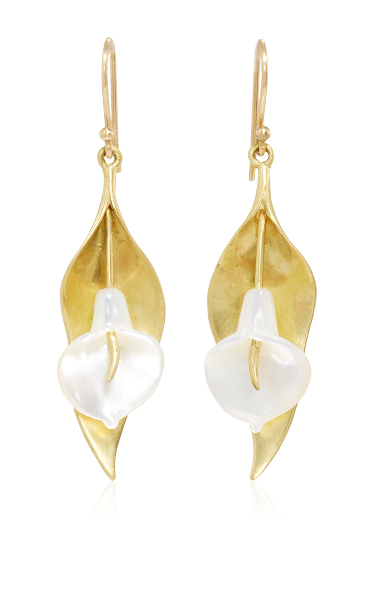 Buy Cheap Looking For Reliable Lily Pad 14K Gold and Pearl Earrings Annette Ferdinandsen Buy Cheap Nicekicks On1234