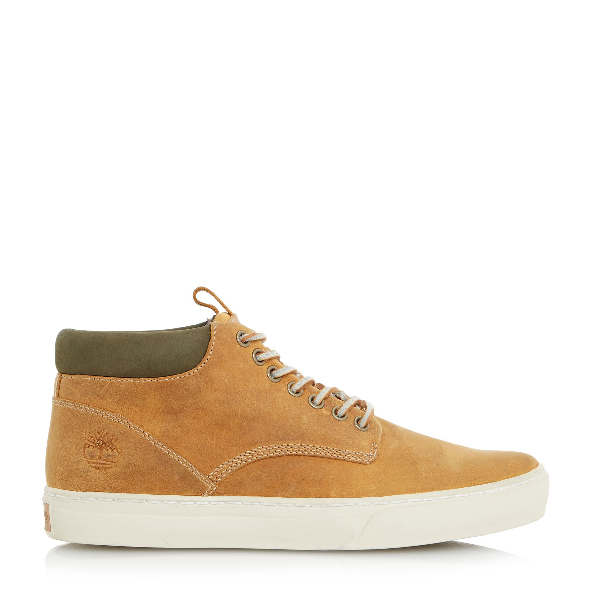 timberland cipsole hi top casual chukka boots in brown for