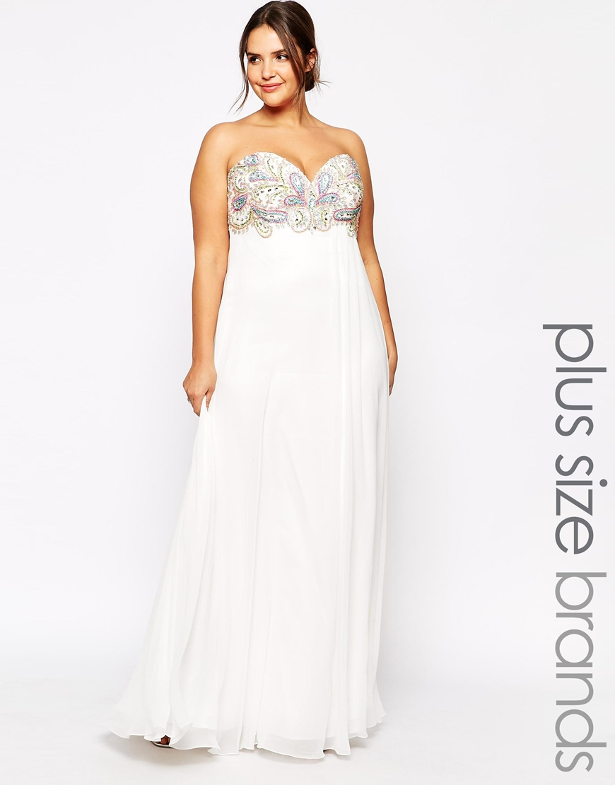 Forever unique Plus Size Tanya Maxi Dress in White - Lyst