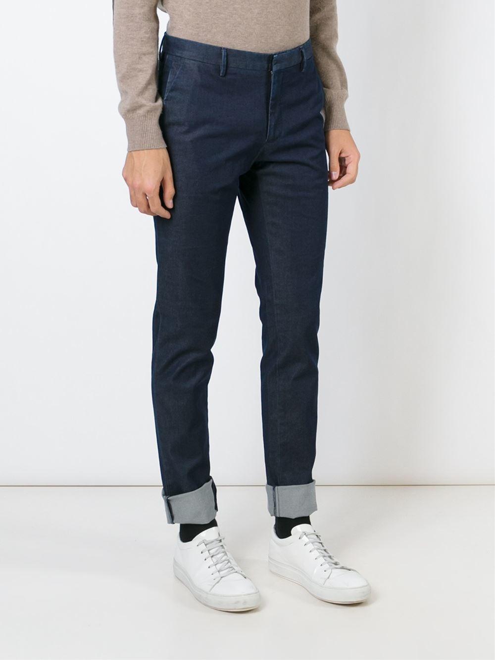 chino trousers - Blue Incotex W6R38UU