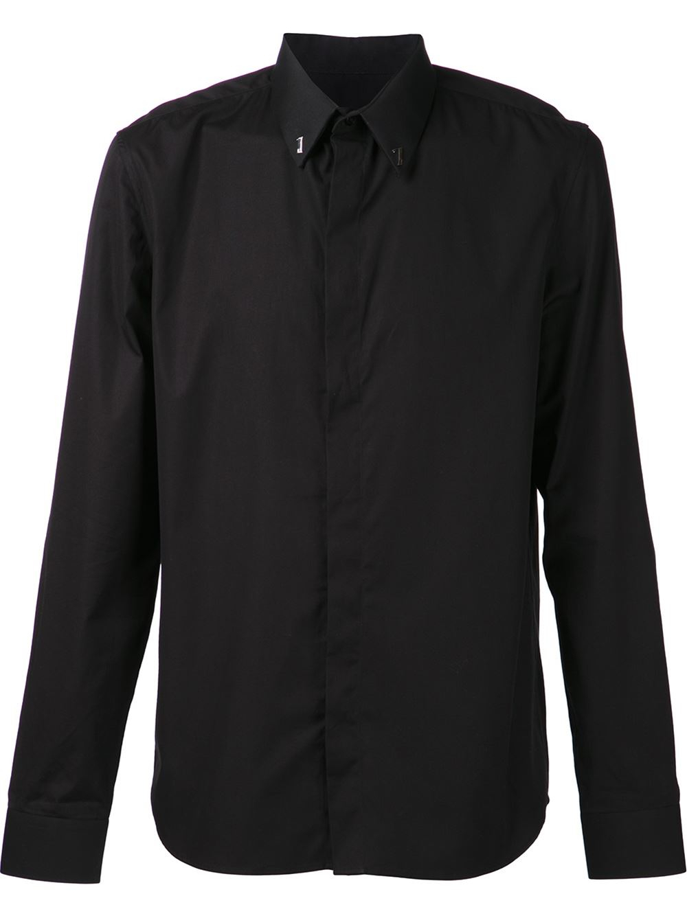 givenchy 39 17 39 classic shirt in black for men lyst. Black Bedroom Furniture Sets. Home Design Ideas