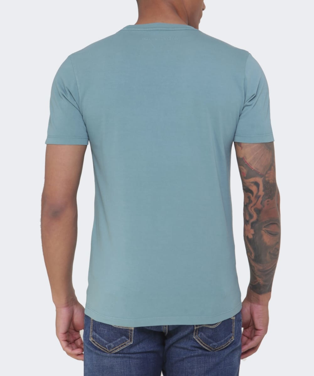 napapijri sapriol crew neck t shirt in blue for men lyst. Black Bedroom Furniture Sets. Home Design Ideas