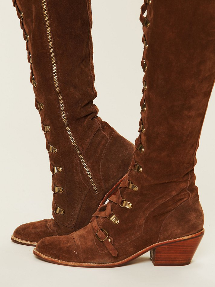 d9a297dfdfb Lyst - Free People Johnny Tall Boot in Brown