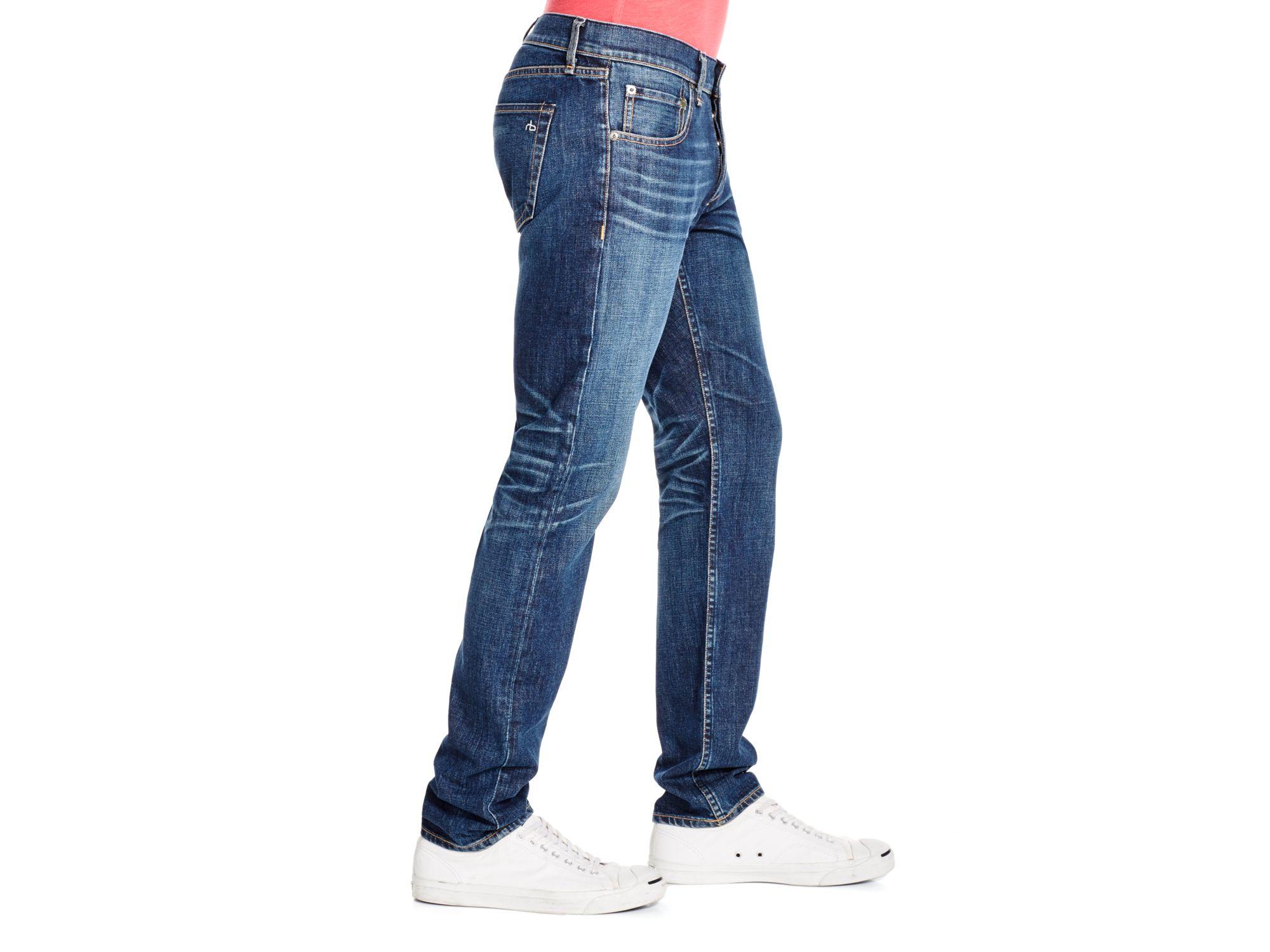 Rag & Bone Denim Fit 2 Slim Fit Jeans In Aged in Blue for Men