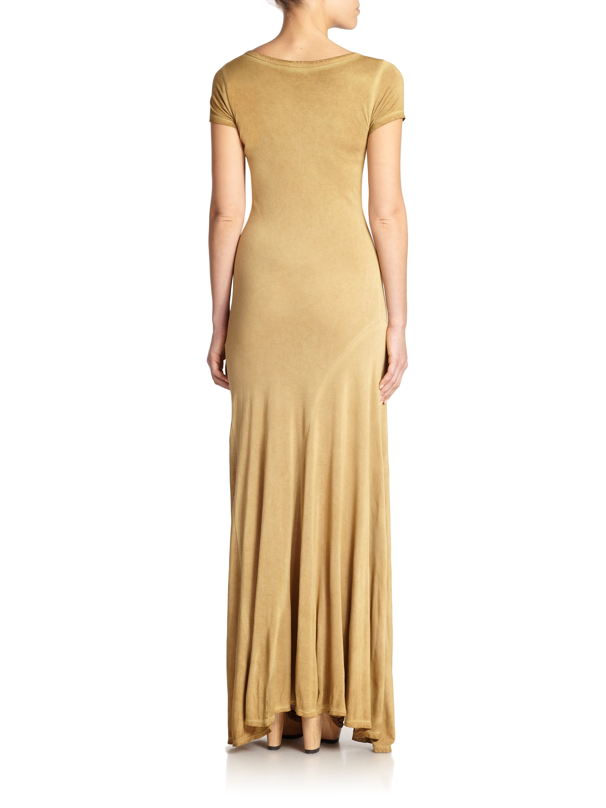 Lyst Polo Ralph Lauren Pleated Maxi Dress In Natural