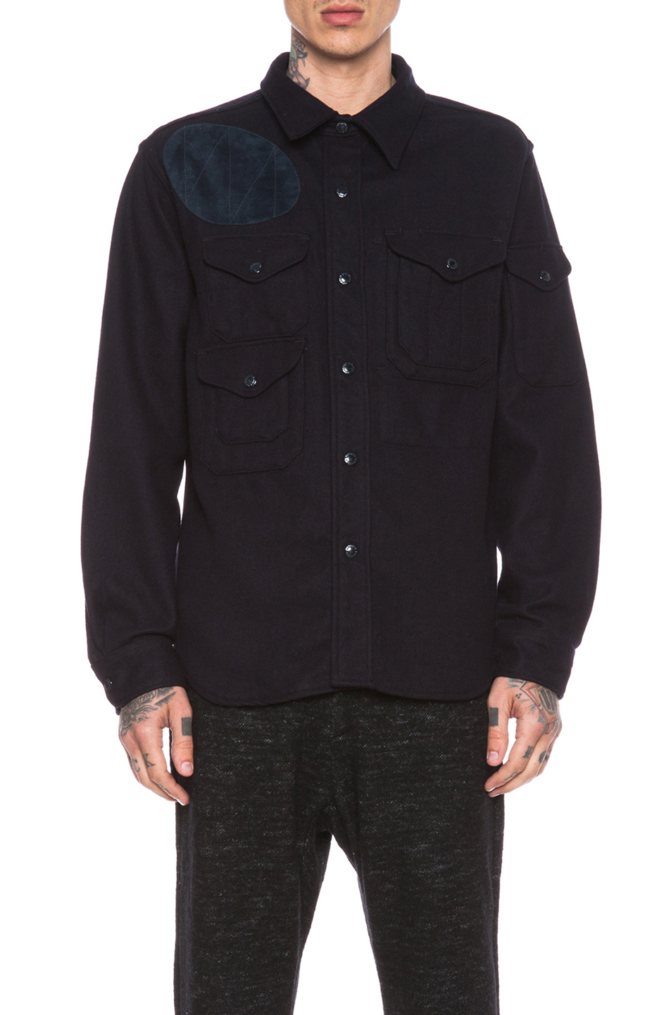 Engineered Garments Wool Men'S Cpo Shirt Jacket in Navy ...