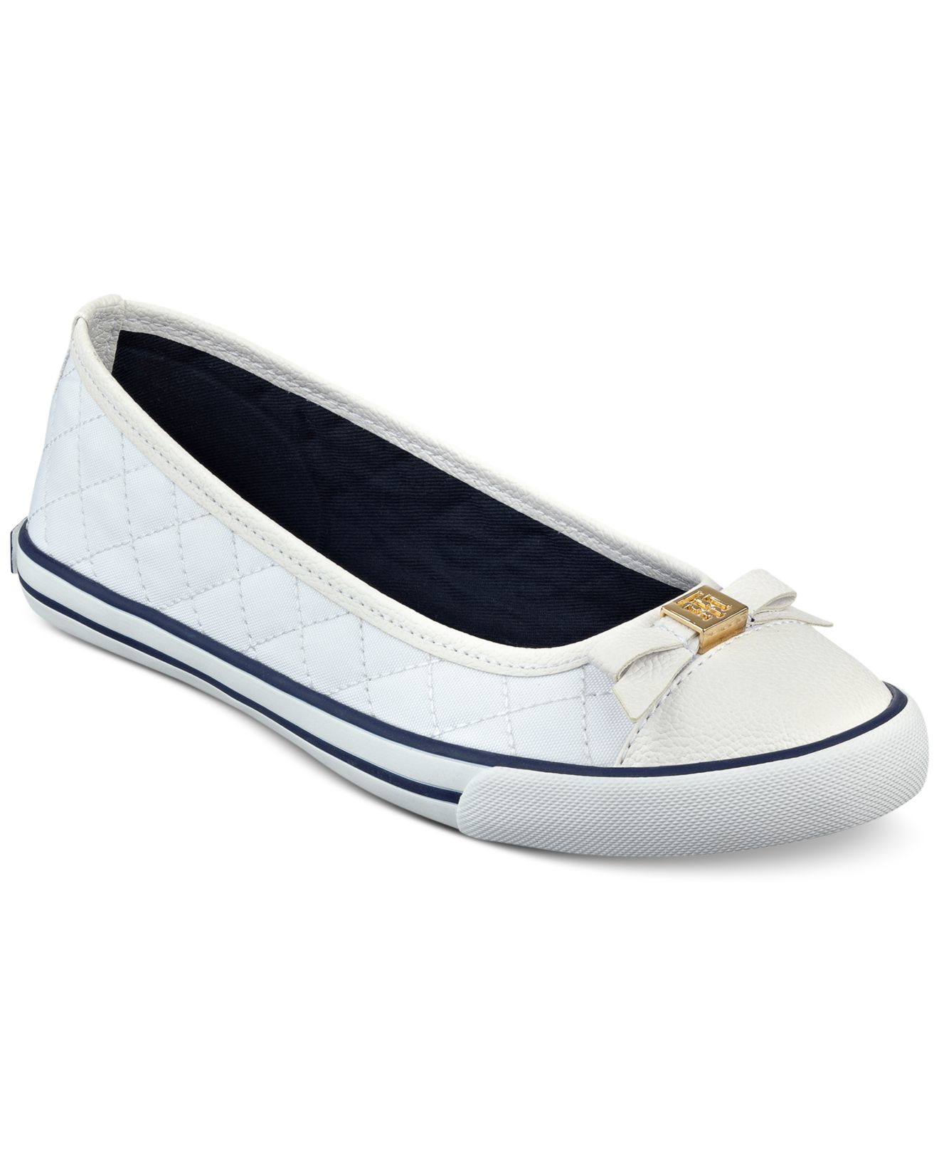 tommy hilfiger beth ballet flats in white lyst. Black Bedroom Furniture Sets. Home Design Ideas