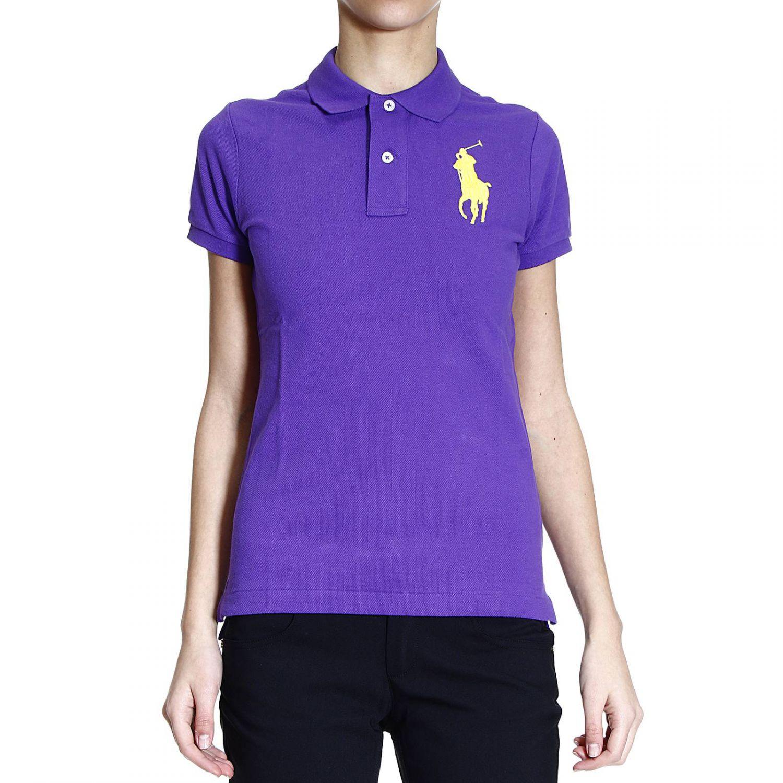 Ralph lauren t shirt polo half sleeve nido d 39 ape big pony for Black ralph lauren shirt purple horse