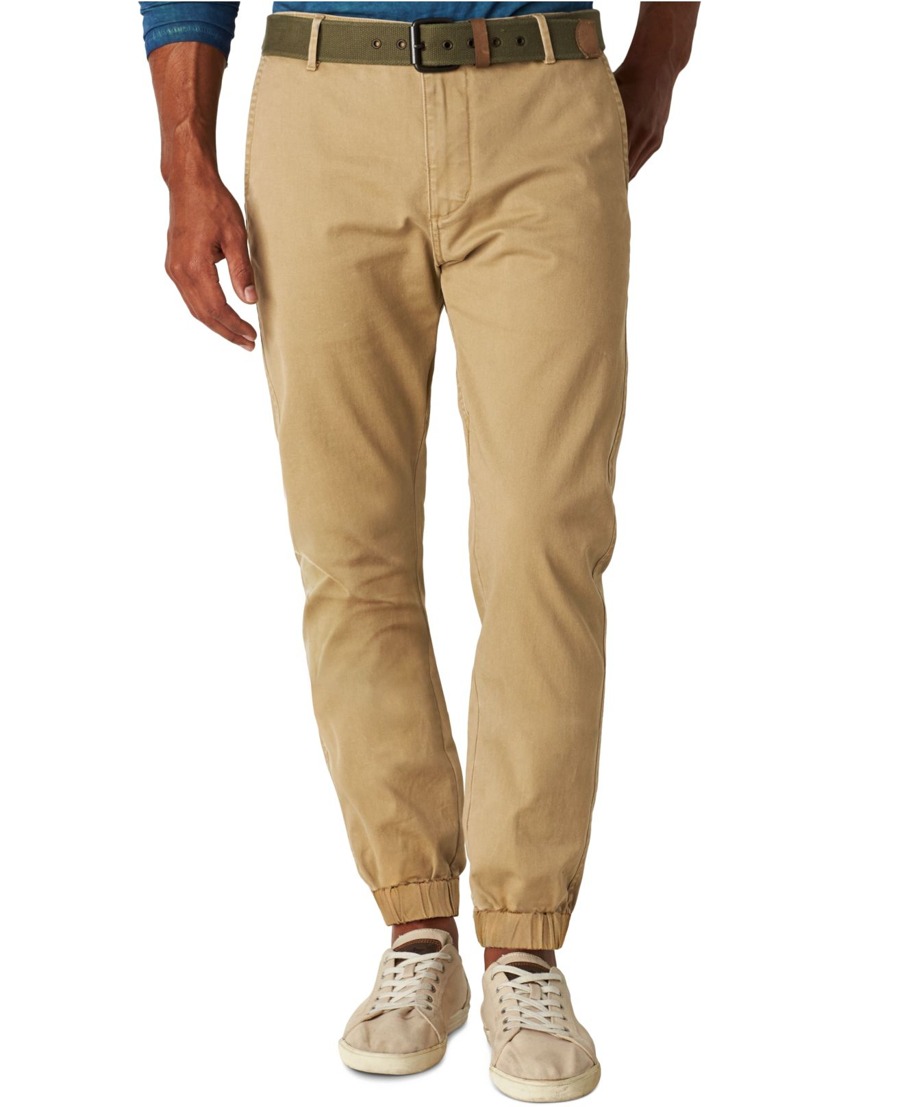 Lyst Dockers Slim Fit Alpha Joggers Pants In Natural For Men