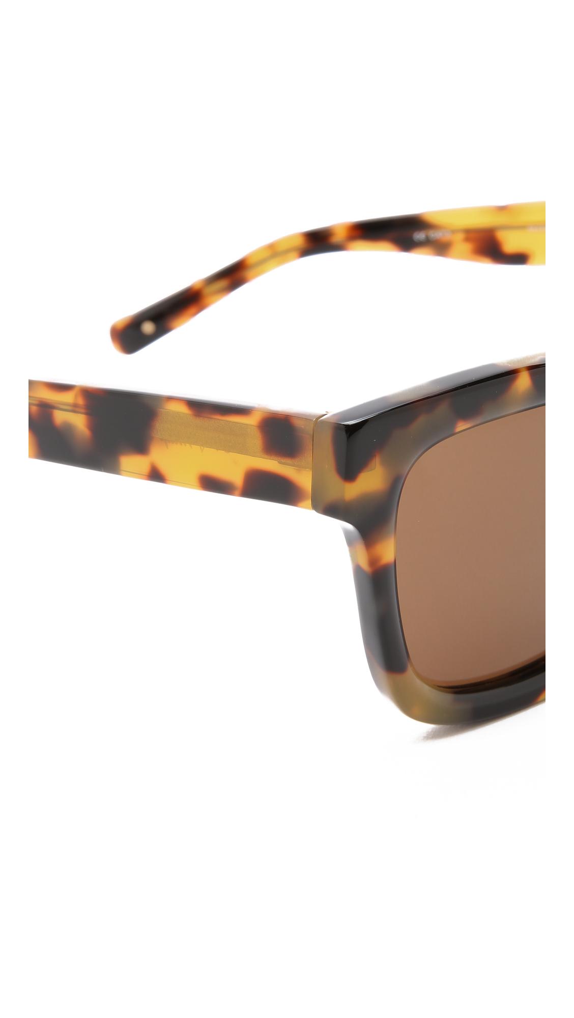 3.1 Phillip Lim Square Sunglasses in Graphic t Shell/Brown (Brown)