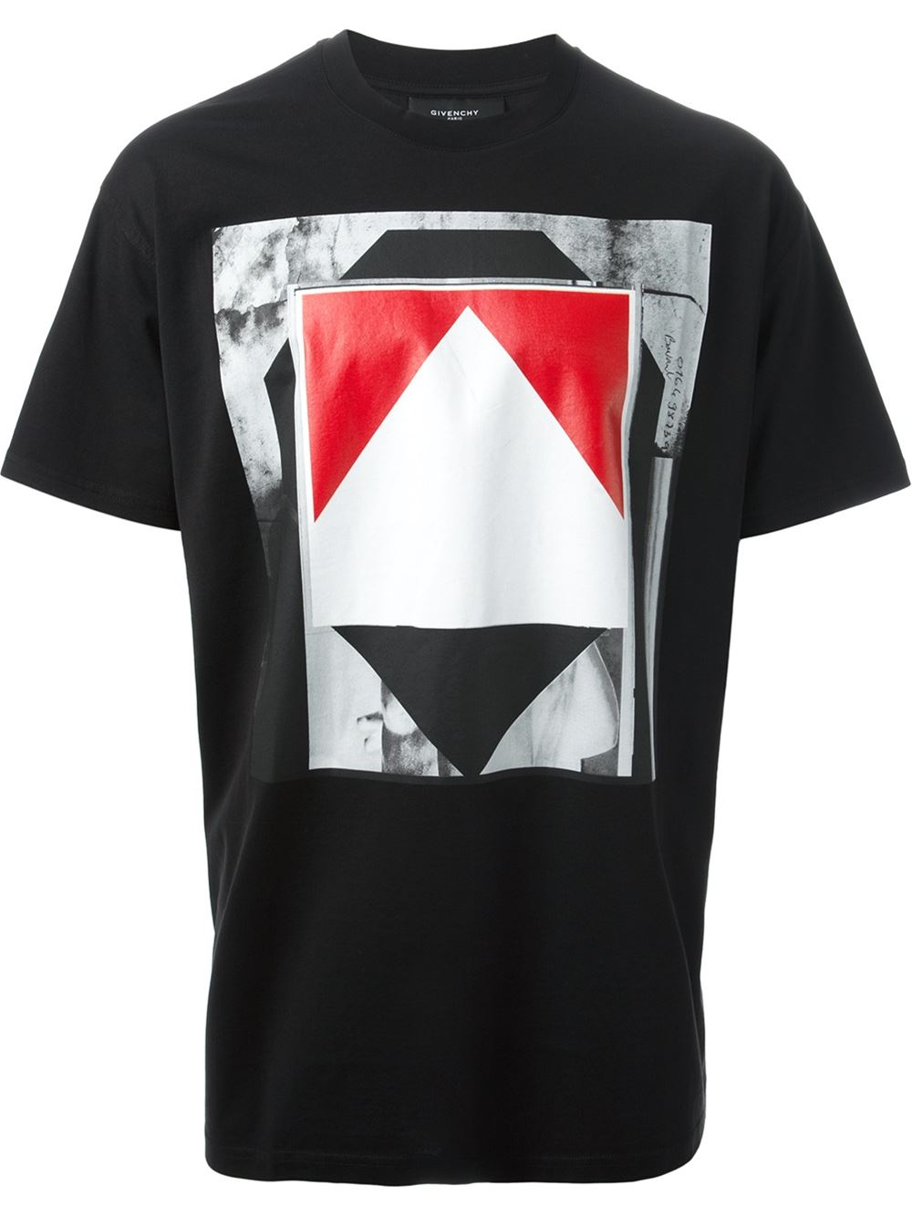 Lyst givenchy printed t shirt in black for men for Givenchy t shirt man