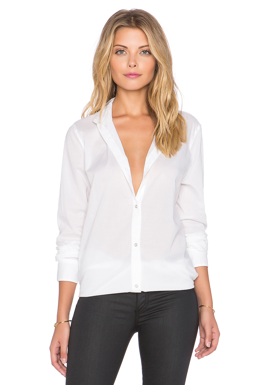 Lyst rag bone beau button up shirt in white for Rag bone shirt