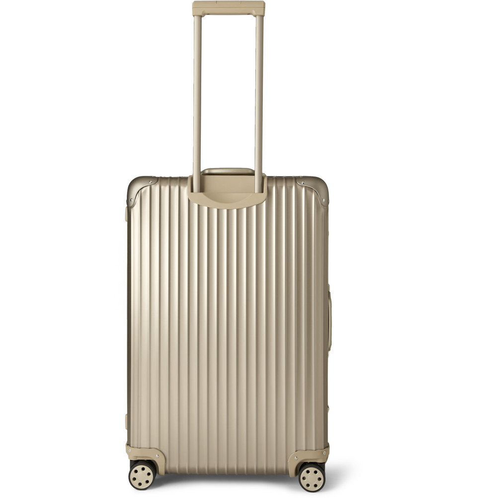 rimowa topas titanium multiwheel 78cm aluminum suitcase in gold for men metallic lyst. Black Bedroom Furniture Sets. Home Design Ideas