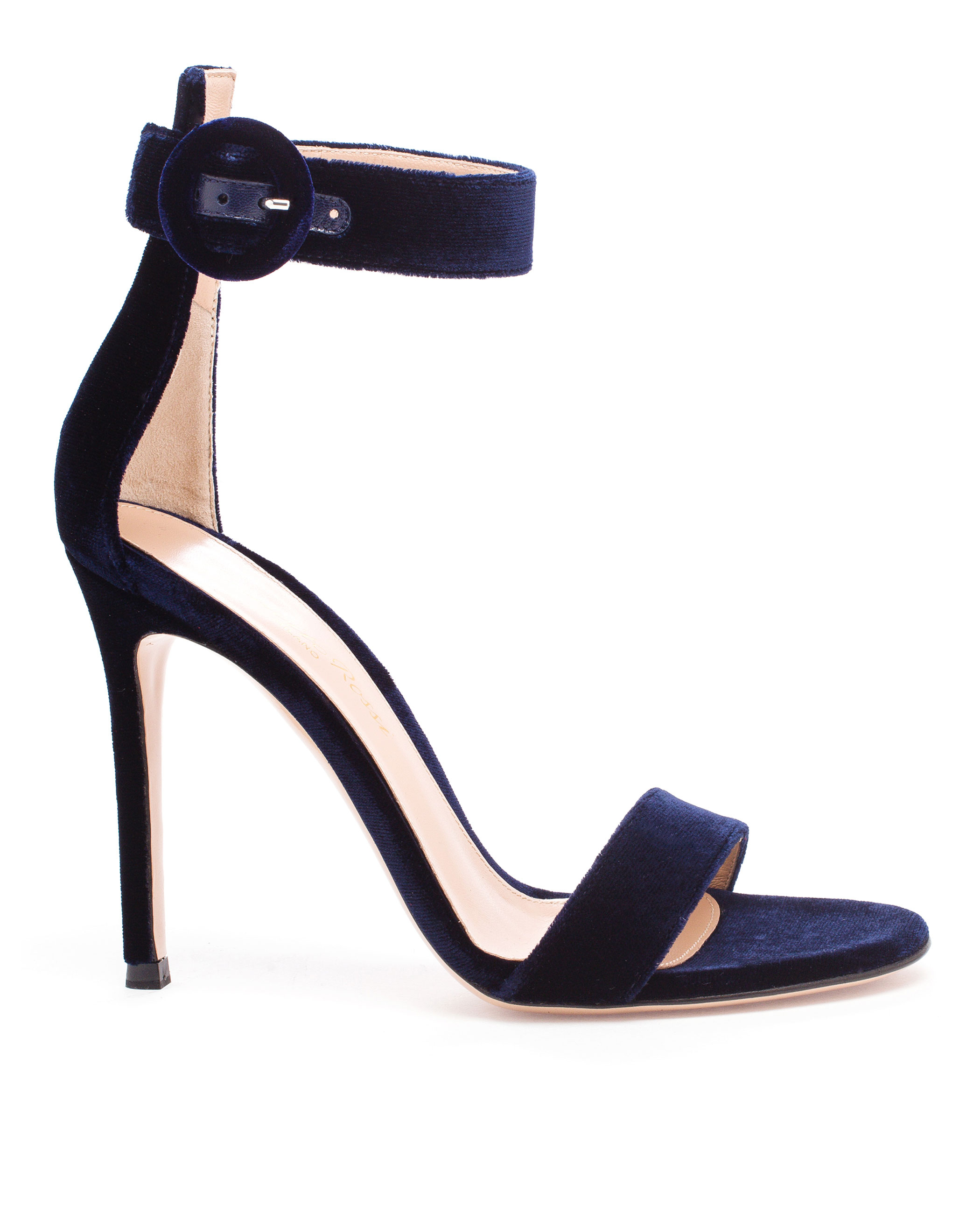 494f61982 Gianvito Rossi Portofino Velvet Sandals in Blue - Lyst