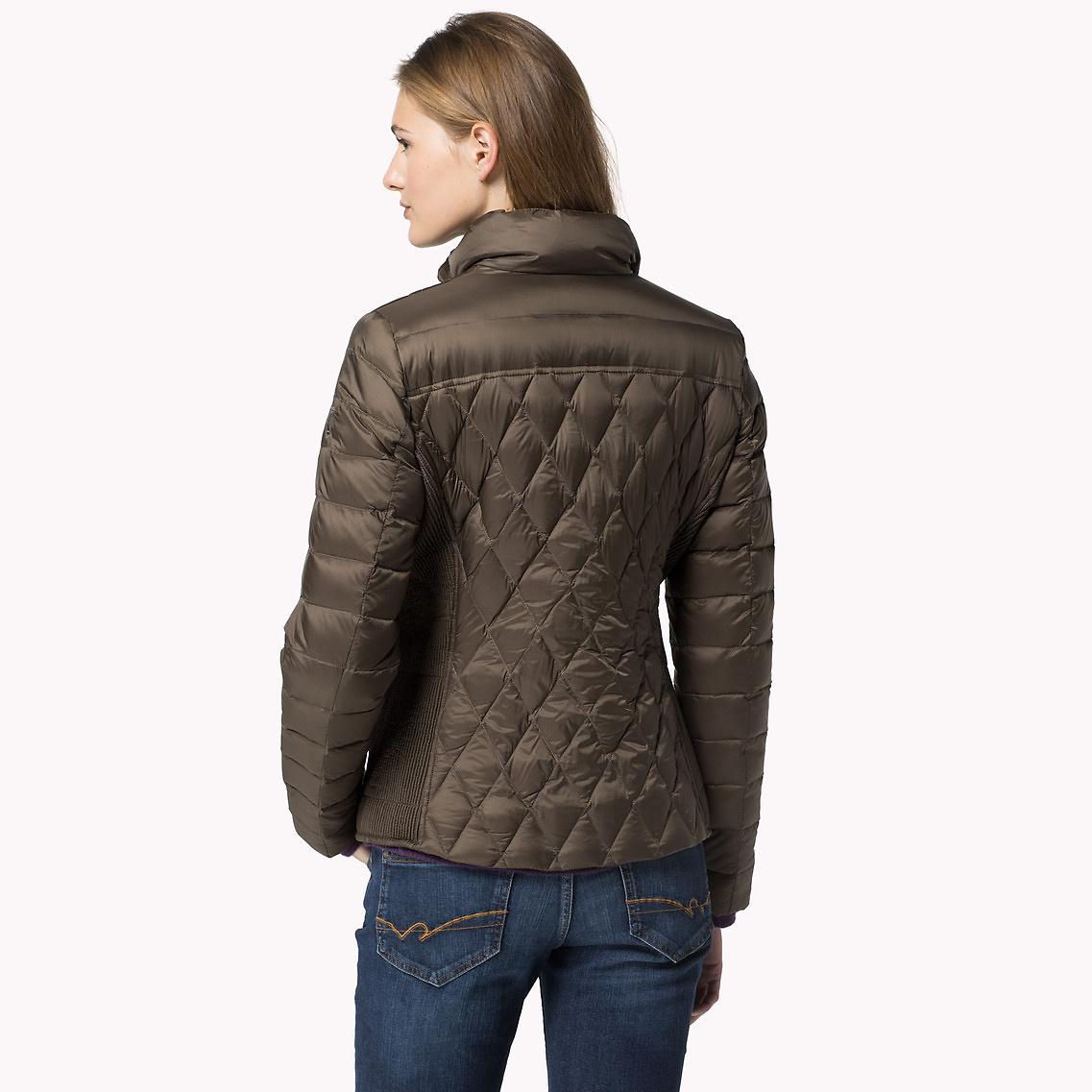 lyst tommy hilfiger nova down jacket in brown. Black Bedroom Furniture Sets. Home Design Ideas