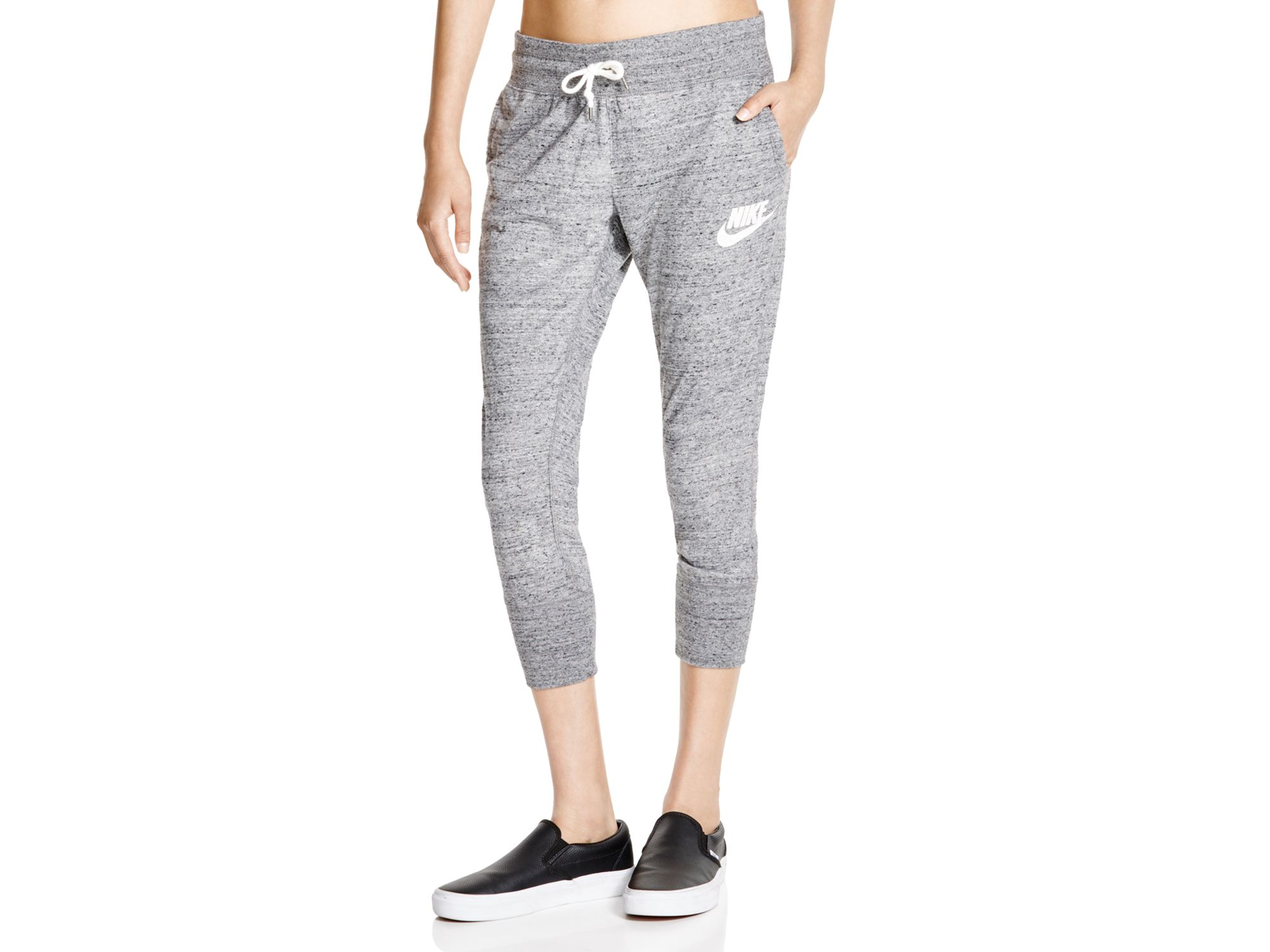 Lyst - Nike Gym Vintage Cropped Sweatpants in Gray 1ca9d0788b265