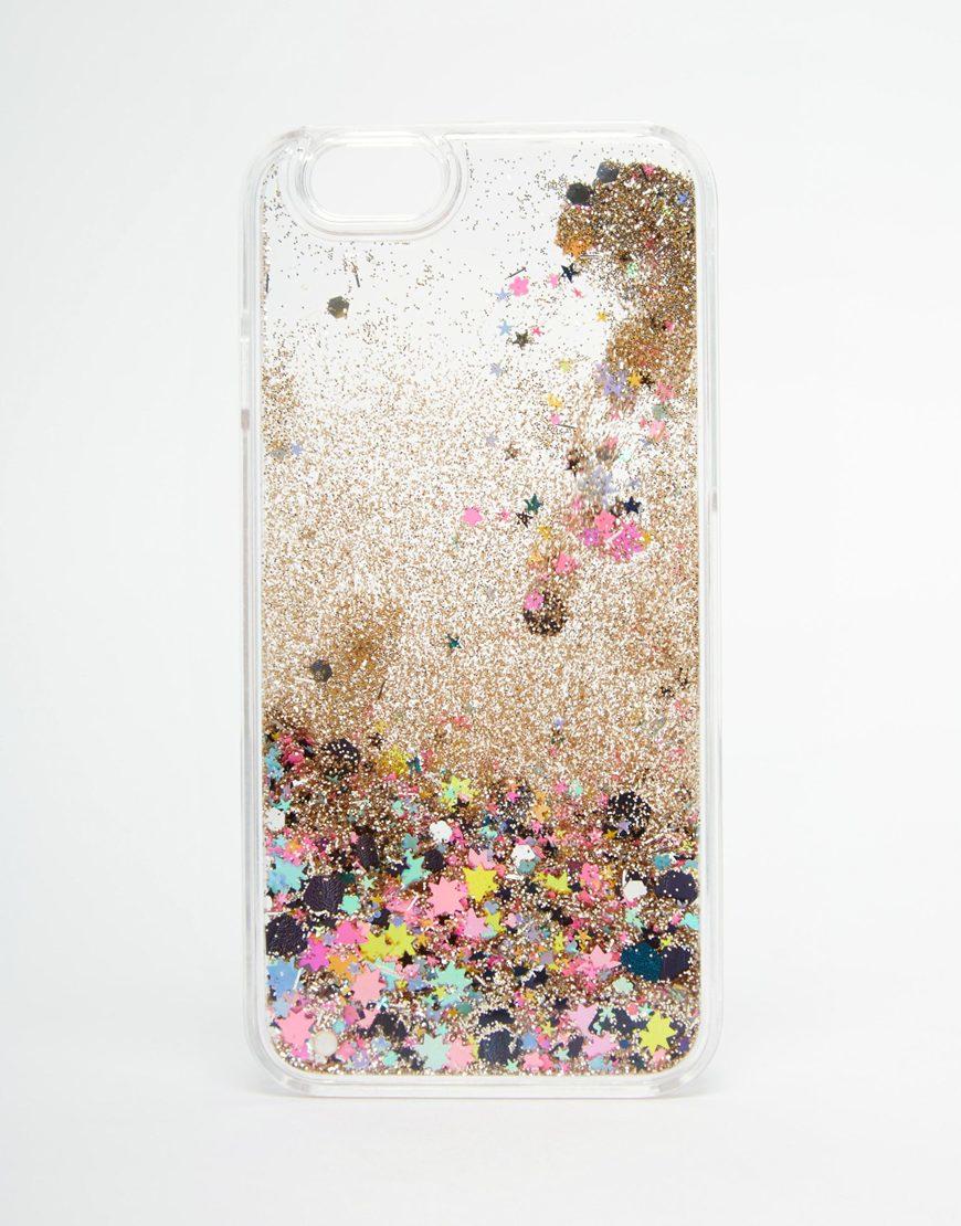 Case Design gigi new york phone case : Asos Iphone 6 And 6s Liquid Sparkle Glitter Case in Multicolor : Lyst