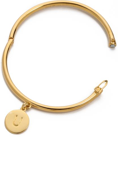 Kate spade charm letter bangle bracelet j in gold u for Letter j bracelet