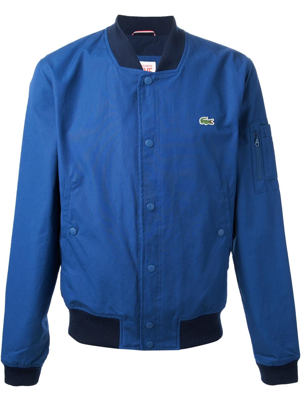 7c7eb2b8 Lacoste L!ive Blue Classic Bomber Jacket for men