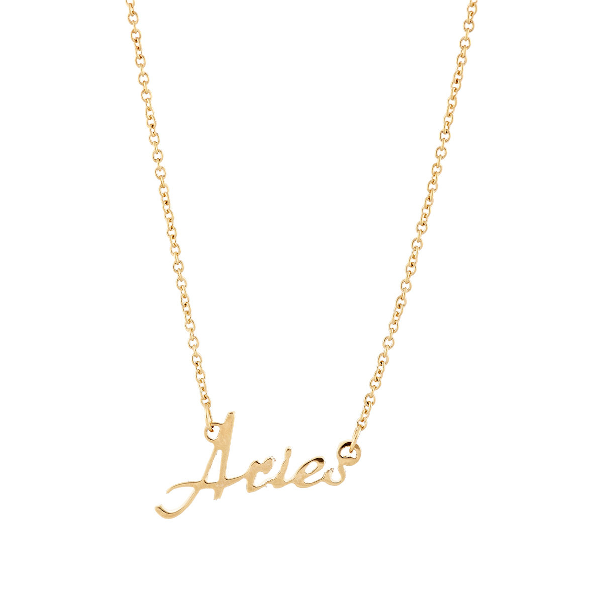 Lyst rebecca minkoff script aries pendant necklace in metallic gallery aloadofball Choice Image
