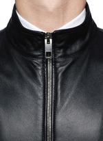 Dolce & Gabbana Leather Racer Jacket in Black for Men