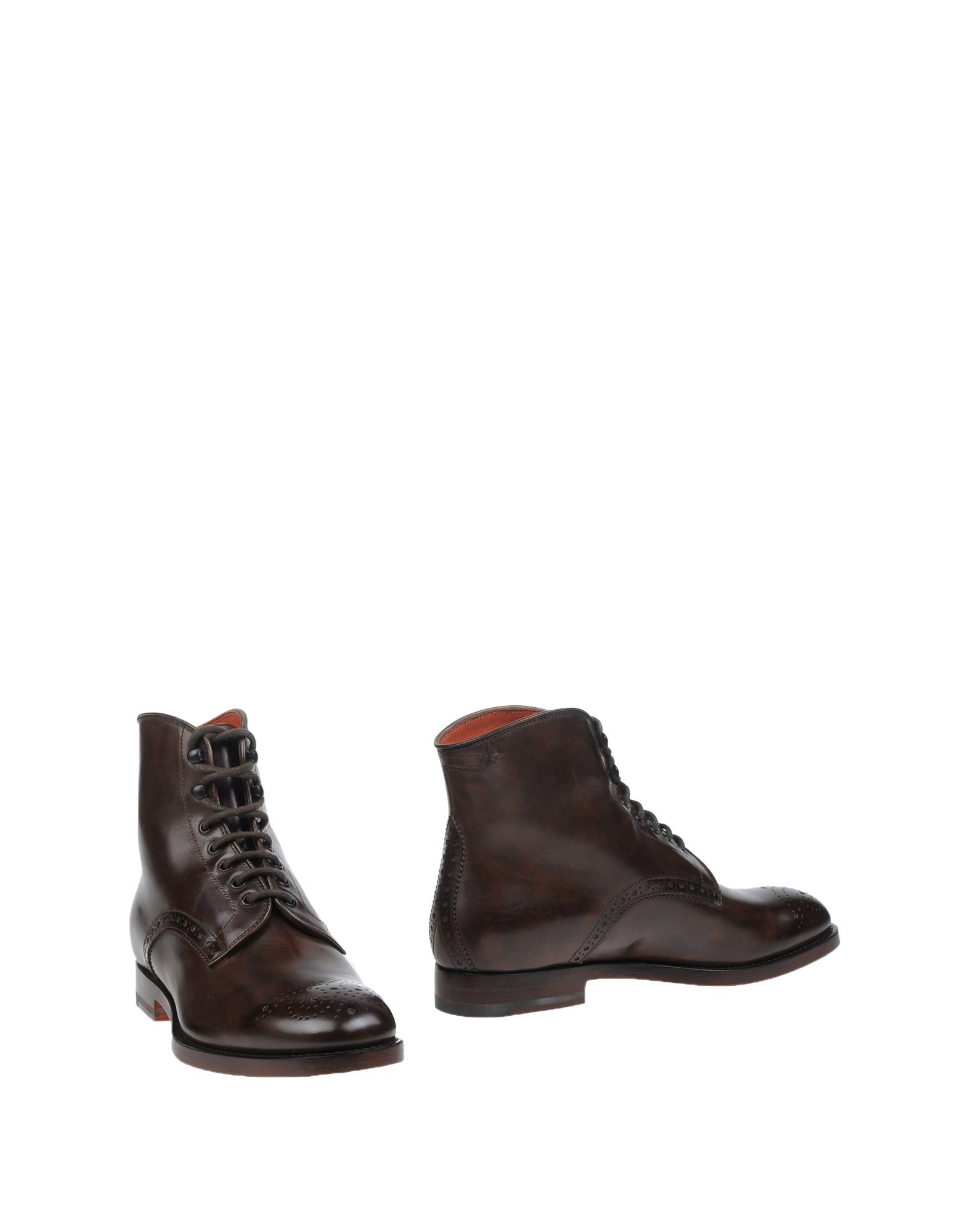 santoni ankle boots in brown brown lyst
