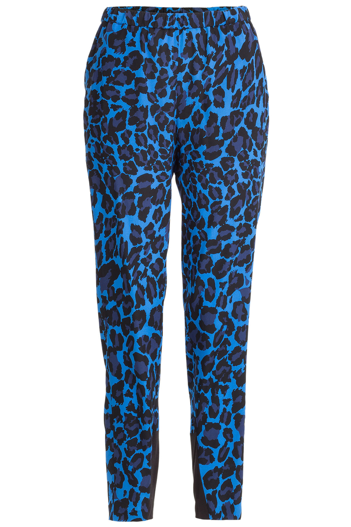 steffen schraut silk blend leopard print track pants blue in blue leopard lyst. Black Bedroom Furniture Sets. Home Design Ideas