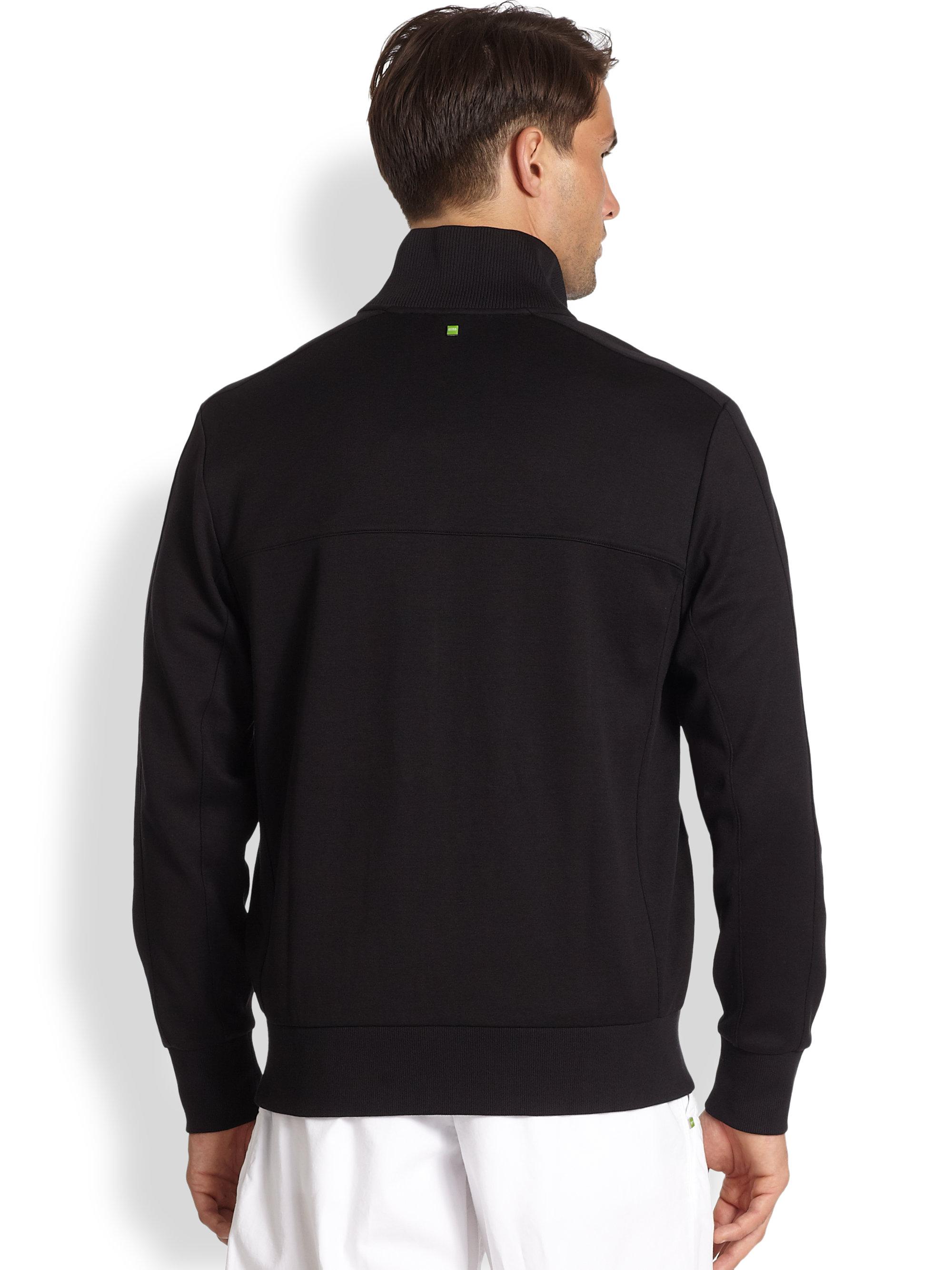 0a3c5323eaab Lyst - BOSS Green Skaz 1 Zip Fleece in Gray for Men