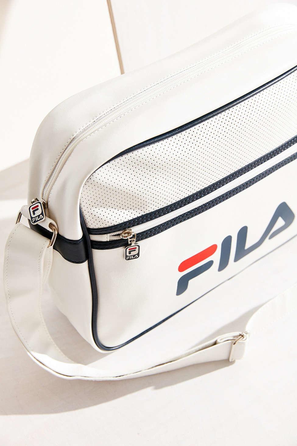 5b2077b1b7 Fila + Uo Docena Messenger Bag in White - Lyst