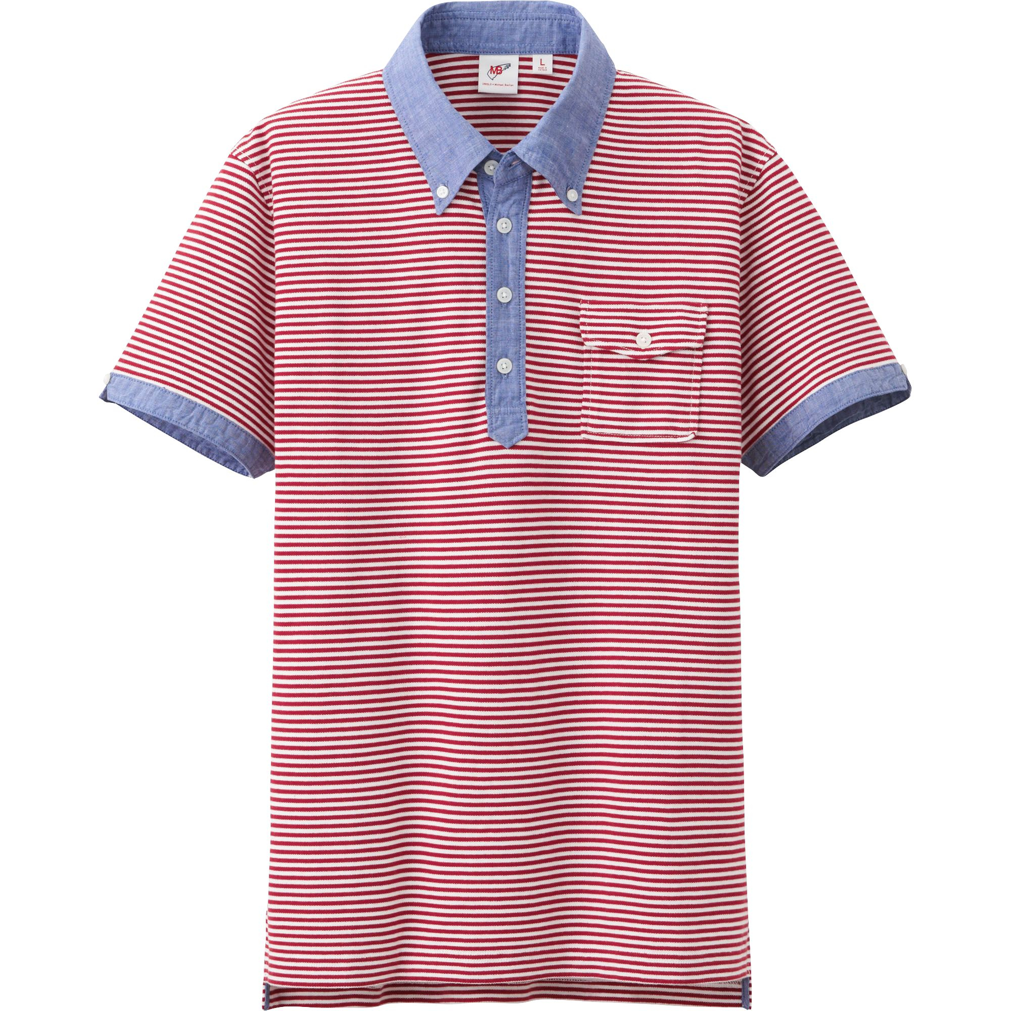 Uniqlo Men Washed Short Sleeve Polo Shirt By Mb In Red For