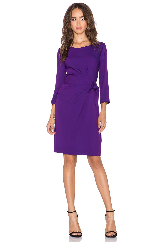 Diane Von Furstenberg Zoe Silk Faux Wrap Dress In Purple