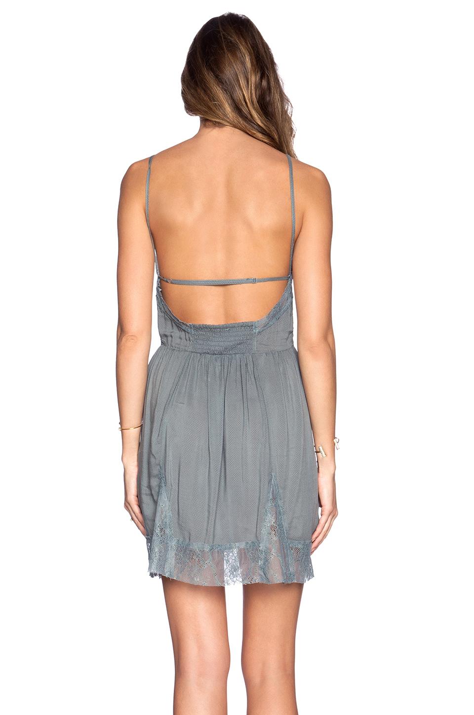 61b27b8feed1 Free People Lace Insert Swing Slip Dress in Gray - Lyst